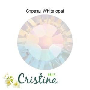 Стразы Swarovski White Opal
