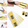 формы шаблоны для ногтей золотые