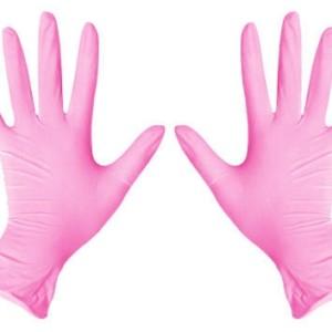 Перчатки Нитриловые Розовые (S) Пара