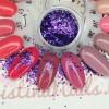 Жидкие стразы фиолетовые 6
