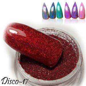 втирка дизайн для ногтей диско 17