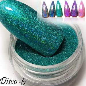 втирка дизайн для ногтей диско 6