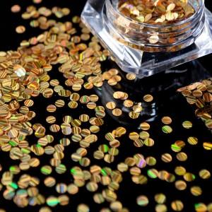 Галографические конфетти золото