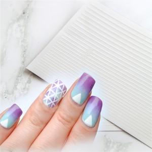 полоски для ногтей белые набор