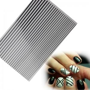 полоски для ногтей черные набор